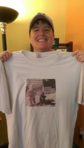My grandmother screen printed a Polaroid and sent me a t-shirt three years ago. Again: Screen. Printed. A. Polaroid.